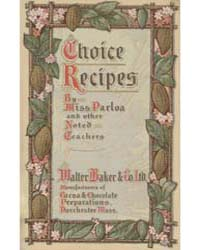 Choice Recipes 1904, Document Msuspcsbs ... by Maria Parloa