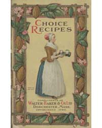 Chocolate and Cocoa Recipes, 1780, Docum... by Miss Parloa
