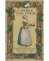 Chocolate and Cocoa Recipes, 1914, Docum... by Miss Parloa