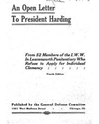 An Open Lettel' to President· Harding, D... by Michigan State University