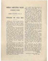 Press Bulletin Number 13, Treatment of S... by C. D. Smith