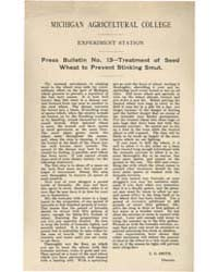 Press Bulletin Number 13- Treatment of S... by C. D. Smith