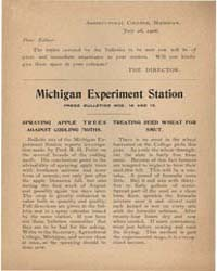 Press Bulletins Number 14 and I5, Docume... by Michigan State University