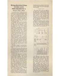 Press Bulletin Number I5, Document Pb-15... by Michigan State University