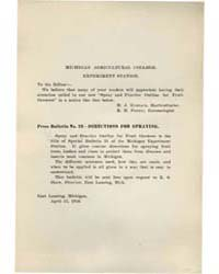 Press Bulletin Number 23.-directions for... by R. H. Pettit