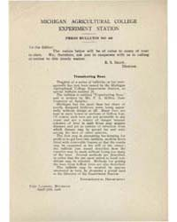 Press Bulletin Number 46, Document Pb-46 by R. S. Shaw