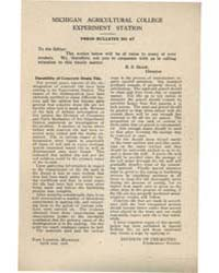 Press Bulletin Number 47, Document Pb-47 by R. S. Shaw
