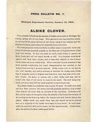 Alsike Clover, Document Pb-7 by Michigan State University