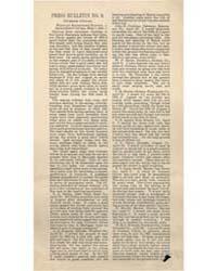 Press Bulletin Number 9., Document Pb-9 by Crimson Clover
