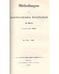 Mittheilungen Der Naturforschenden Gesel... by M. Perty