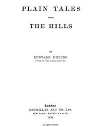 Plain Tales from the Hills, February 189... by Eudyard Kipling