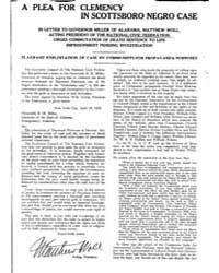 A Plea for Clemency in Scottsboro Negro ... by Miller, B. M.
