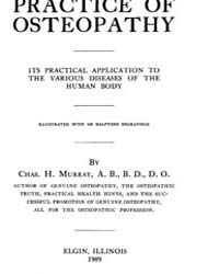 Practice of Osteopathy, 1909, Document P... by H. Murray