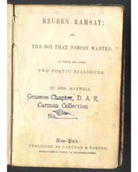 Reuben Ramsay : Or, the Boy That Nobody ... by Mrs. Maxwell