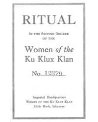 Ritual in the Second Degree of the Women... by Michigan State University