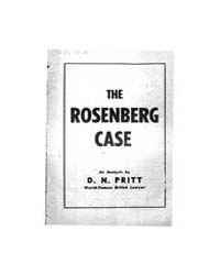 The Rosenberg Case, Document Rosenbergca... by D. N. Pritt
