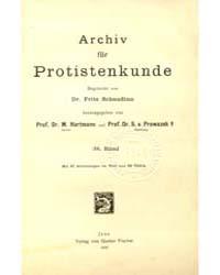 Archiv Fur Protistenkunde, Document Scha... by Fritz Schaudinn