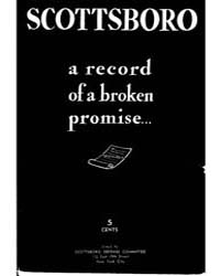Scottsboro a Record of a Broken Promise,... by Michigan State University