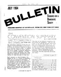 Bulletin Students for a Democratic Socit... by C. Clark Kissinger