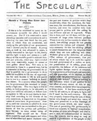 The Speculum, Volume Xi, Document Specul... by Hon. John T. Rich