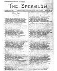 The Speculum : Volume 13, Number 1, Docu... by Michigan State University
