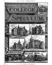 The College Speculum, Volume V, Document... by J. R. Newton