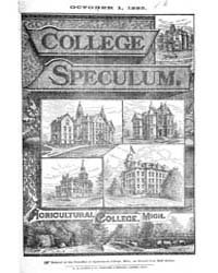 The College Speculum, Volume V, Document... by T. H. Sedina