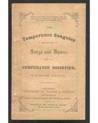 The Temperance Songster, Document Tmps by Nathaniel Saunders