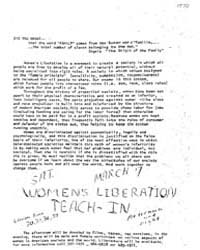 Women's Liberation is a Movement to Crea... by Michigan State University