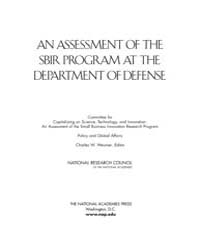 An Assessment of the Sbir Program at the... by Wessner, Charles W