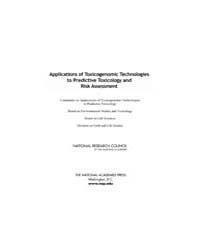 Applications of Toxicogenomic Technologi... by National Academies Press US