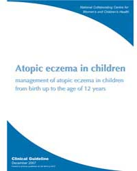 Atopic Eczema in Children: Management of... by National Collaborating Centre for Women's and Chil...