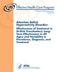 Attention Deficit Hyperactivity Disorder... by Agency for Healthcare Research and Quality