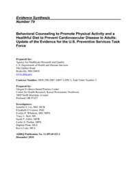 Behavioral Counseling to Promote Physica... by Agency for Healthcare Research and Quality