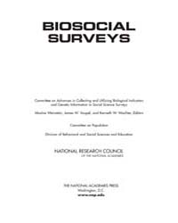 Biosocial Surveys by National Academies Press US
