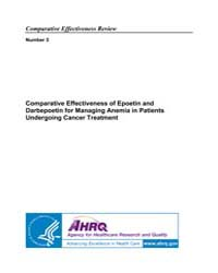 Comparative Effectiveness of Epoetin and... by Agency for Healthcare Research and Quality US