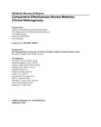 Comparative Effectiveness Review Methods... by Aj, Mansfield