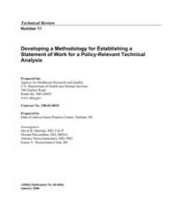 Developing a Methodology for Establishin... by Agency for Healthcare Research and Quality US