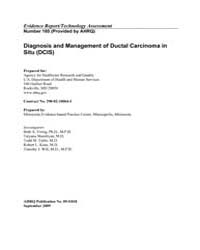 Diagnosis and Management of Ductal Carci... by Agency for Healthcare Research and Quality