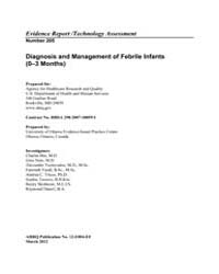 Diagnosis and Management of Febrile Infa... by Agency for Healthcare Research and Quality US