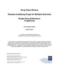 Drug Class Review Disease-modifying Drug... by McDonagh, Marian
