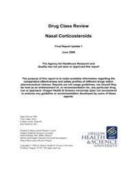 Drug Class Review Nasal Corticosteroids ... by Selover, Dana