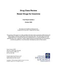 Drug Class Review Newer Drugs for Insomn... by Carson, Susan