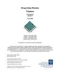 Drug Class Review Triptans : Final Repor... by Helfand, Mark