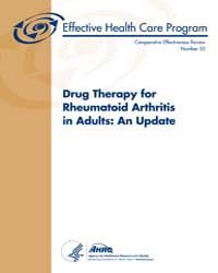 Drug Therapy for Rheumatoid Arthritis in... by Agency for Healthcare Research and Quality