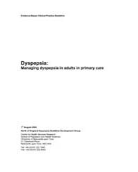 Dyspepsia : Managing Dyspepsia in Adults... by University of Newcastle Upon Tyne