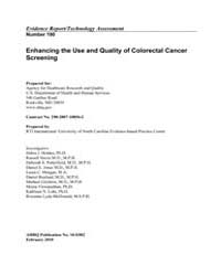 Enhancing the Use and Quality of Colorec... by Agency for Healthcare Research and Quality US