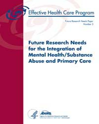 Future Research Needs for the Integratio... by Ts, Carey