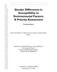 Gender Differences in Susceptibility to ... by Vp, Setlow