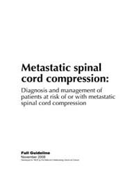 Metastatic Spinal Cord Compression: Diag... by National Collaborating Centre for Cancer (Uk)